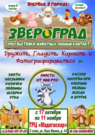 """Контактная зоовыставка """"Звероград"""""""